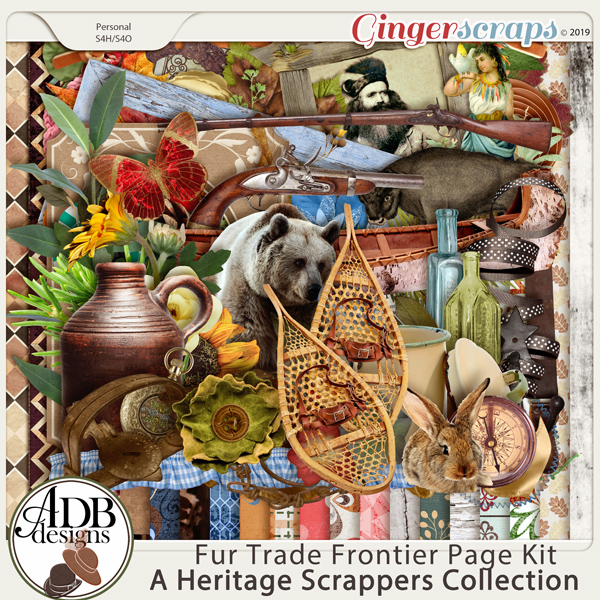 Fur Trade Frontier Page Kit by ADB Designs