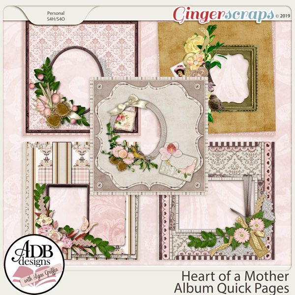 Heart of a Mother Quick Pages by ADB Designs
