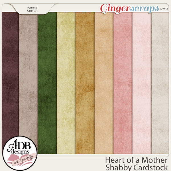 Heart of a Mother Shabby Solids by ADB Designs