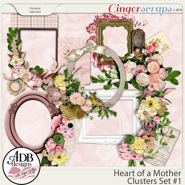Heart of a Mother Clusters Set 1 by ADB Designs