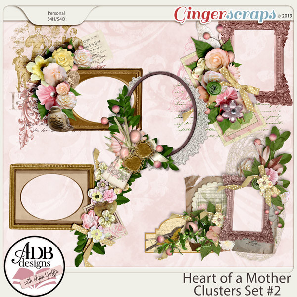 Heart of a Mother Clusters Set 2 by ADB Designs