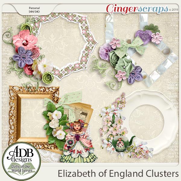 Elizabeth Clusters {DOTW England} by ADB Designs