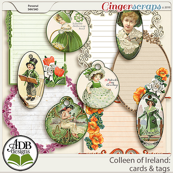 Colleen of Ireland Cards & Tags by ADB Designs