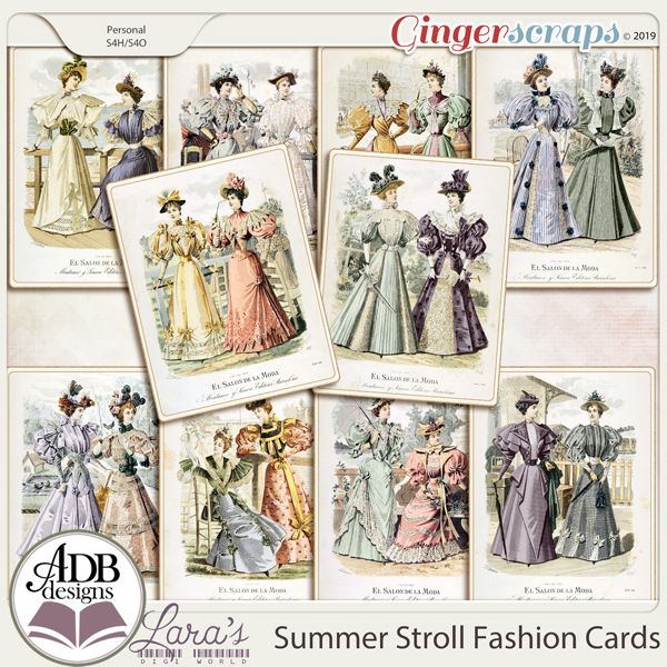 Summer Stroll Fashion Accent Cards