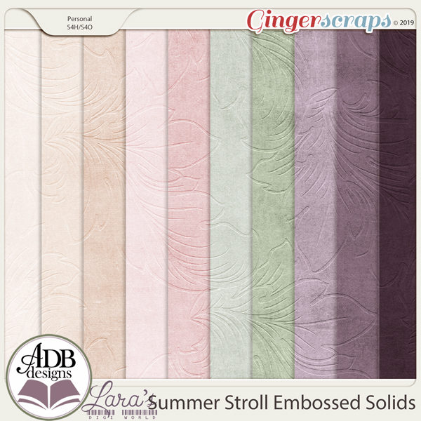 Summer Stroll Embossed Solids