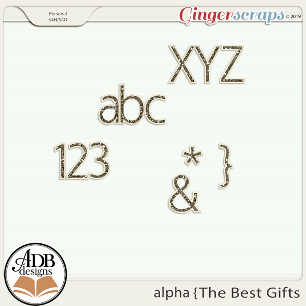 The Best Gifts Alpha by ADB Designs