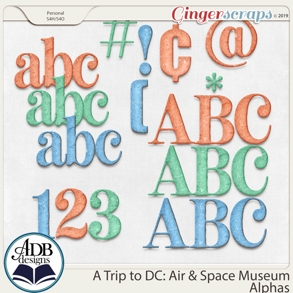 A Trip to DC - Air & Space Museum Alphas by ADB Designs