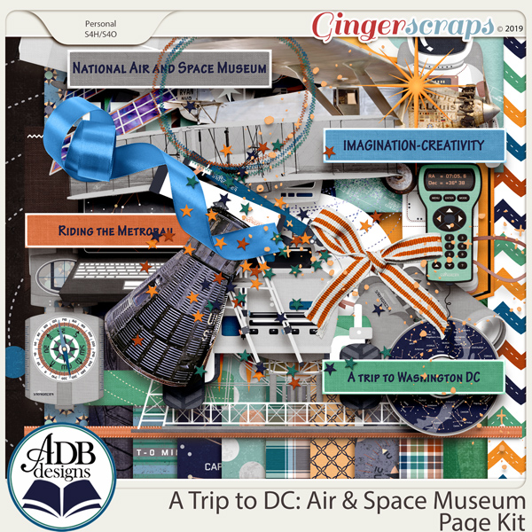 A Trip to DC - Air & Space Museum Page Kit by ADB Designs