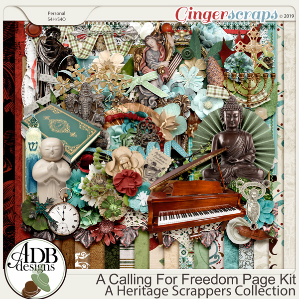 A Calling For Freedom Page Kit by ADB Designs