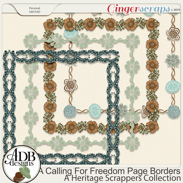 A Calling For Freedom Page Borders by ADB Designs