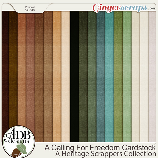 A Calling For Freedom Solid Papers by ADB Designs