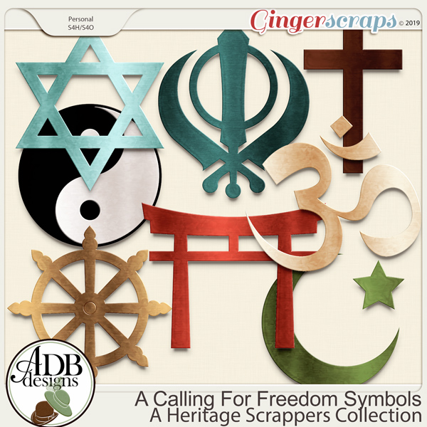 A Calling For Freedom Religious Symbols by ADB Designs