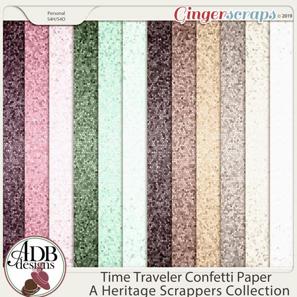 Time Traveler Confetti Paper by ADB Designs