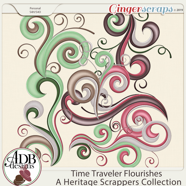 Time Traveler Flourishes by ADB Designs