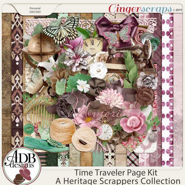 Time Traveler Page Kit by ADB Designs