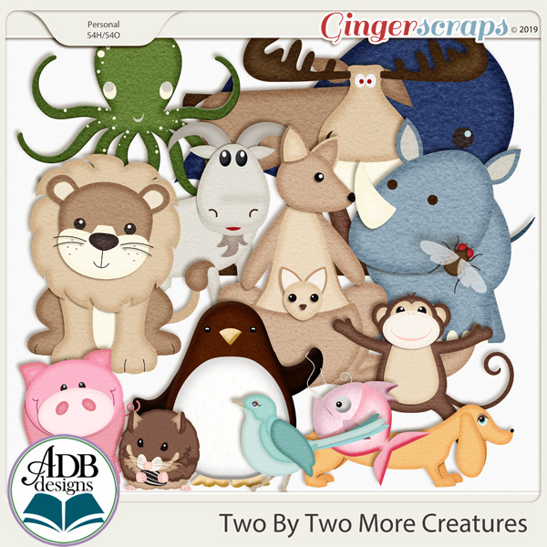 Two By Two More Creatures by ADB Designs