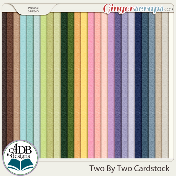 Two By Two Solid Papers by ADB Designs