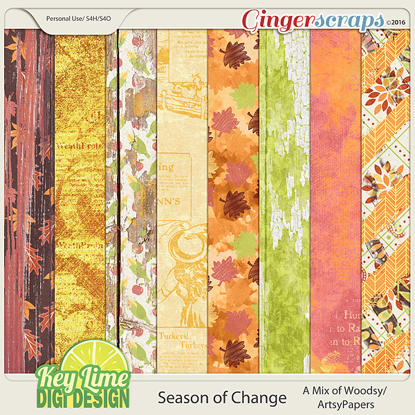 Season of Change - Artsy Woodsy Papers