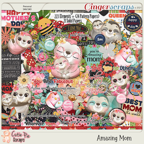 Amazing Mom Page Kit