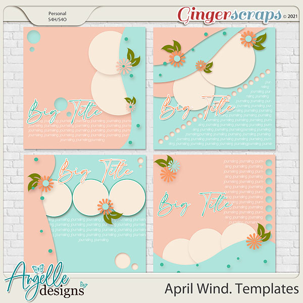 April Wind. Templates by Angelle Designs
