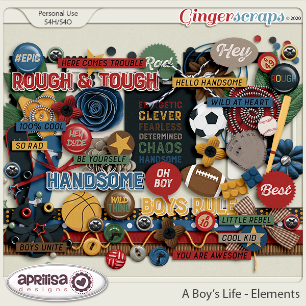 A Boy's Life - Elements by Aprilisa Designs