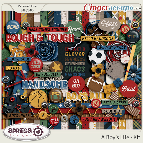 A Boy's Life - Kit by Aprilisa Designs