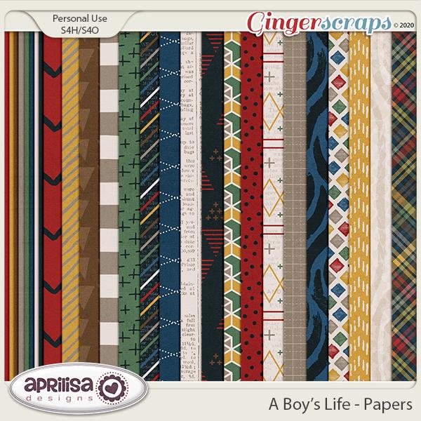 A Boy's Life - Papers by Aprilisa Designs
