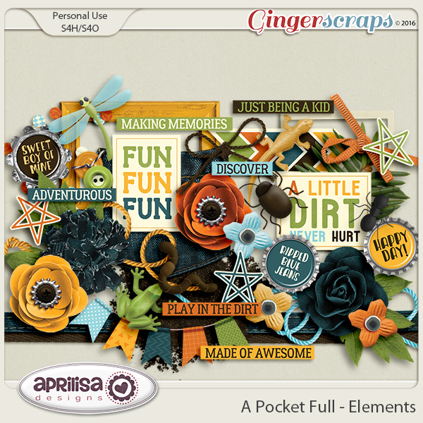 A Pocket Full - Elements by Aprilisa Designs