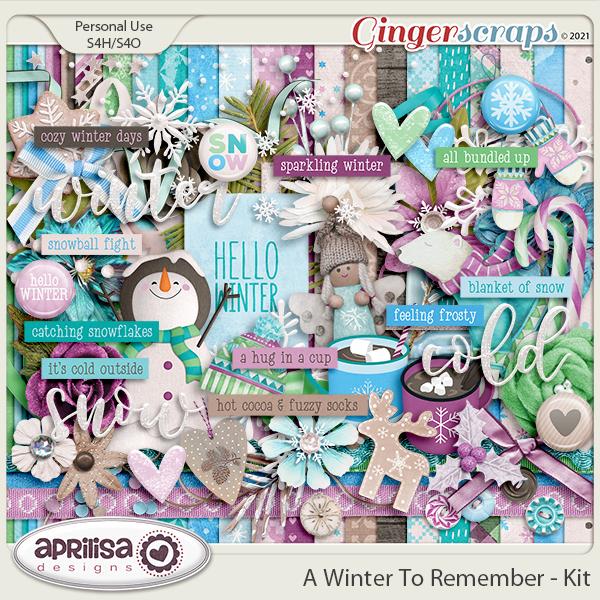 A Winter to Remember - Kit by Aprilisa Designs