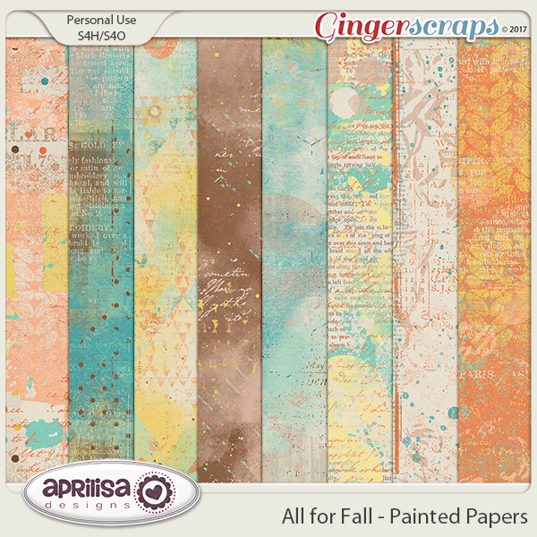 All For Fall - Painted Papers