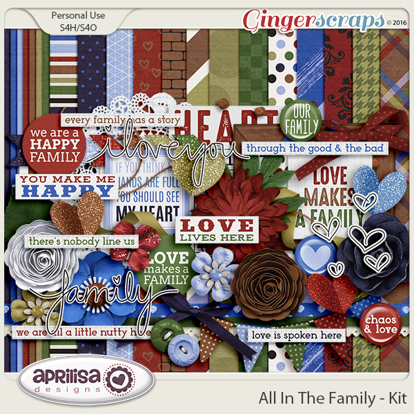 All In The Family - Kit by Aprilisa Designs