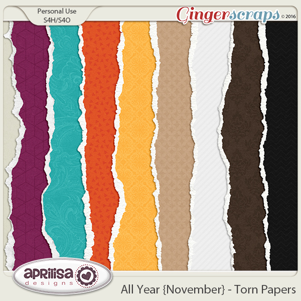 All Year {November} - Torn Papers