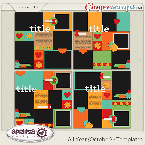 All Year {October} - Templates