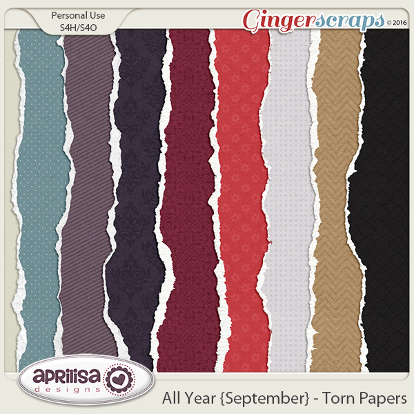 All Year {September} - Torn Papers