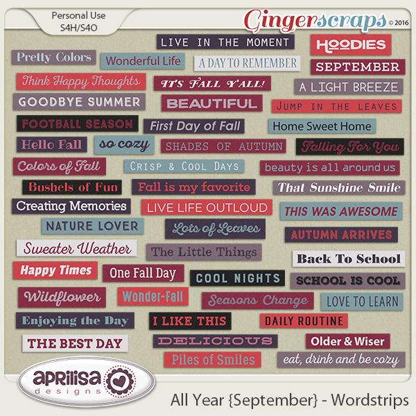 All Year {September} - Wordstrips