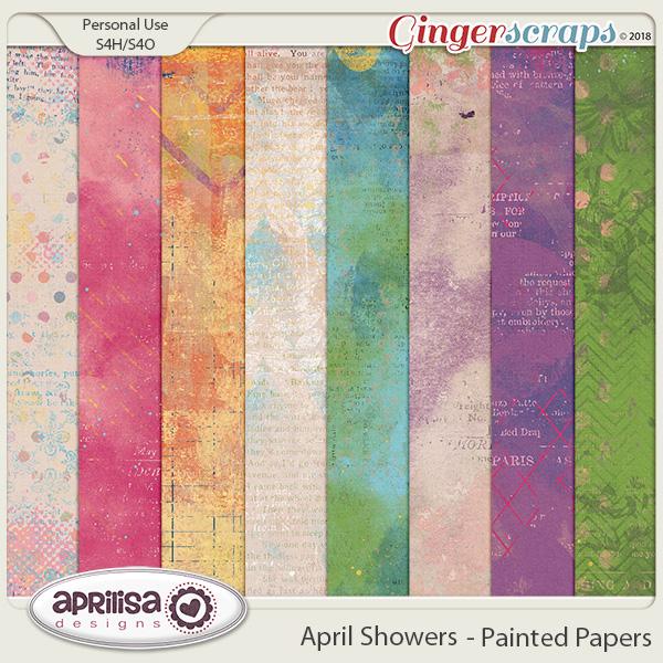 April Showers - Painted Papers by Aprilisa Designs