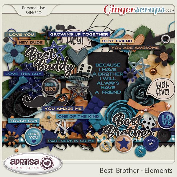 Best Brother - Elements by Aprilisa Designs