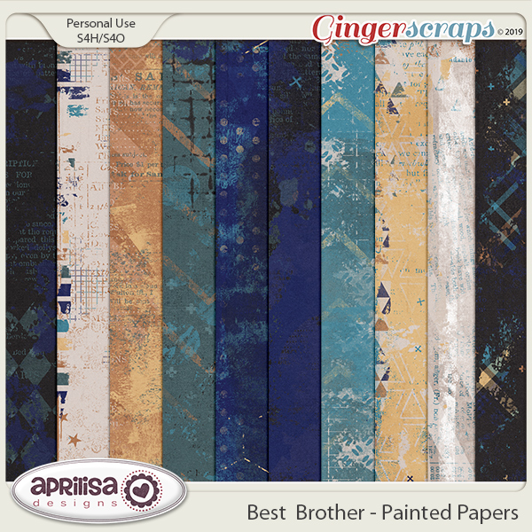 Best Brother - Painted Papers by Aprilisa Designs