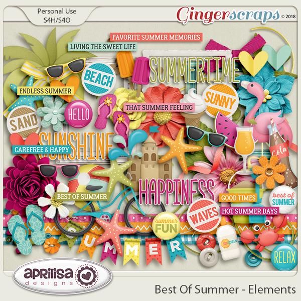 Best Of Summer - Elements by Aprilisa Designs