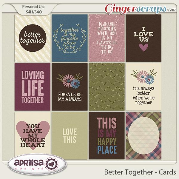 Better Together - Cards by Aprilisa Designs
