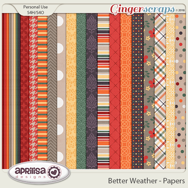 Better Weather - Papers by Aprilisa Designs