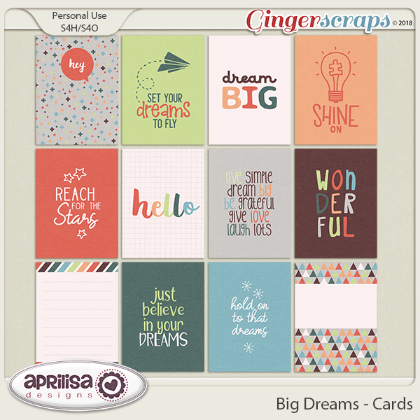 Big Dreams - Cards by Aprilisa Designs