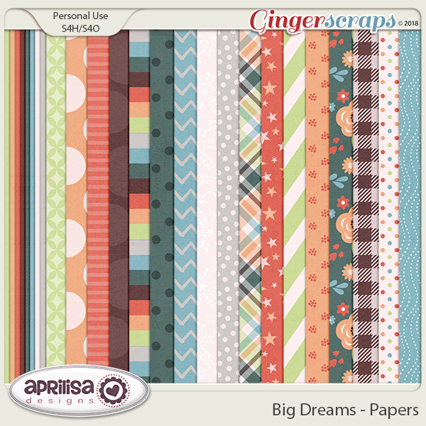 Big Dreams - Papers by Aprilisa Designs