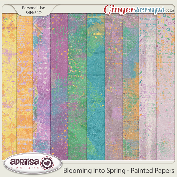 Blooming Into Spring - Painted Papers by Aprilisa Designs