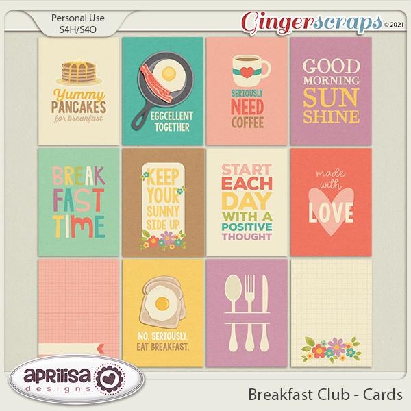 Breakfast Club - Cards by Aprilisa Designs