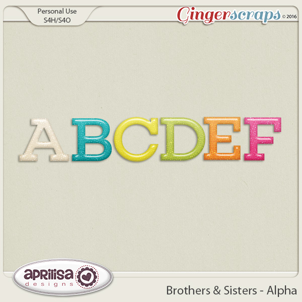 Brothers & Sisters - Alpha by Aprilisa Designs