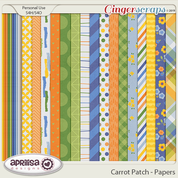 Carrot Patch - Papers by Aprilisa Designs
