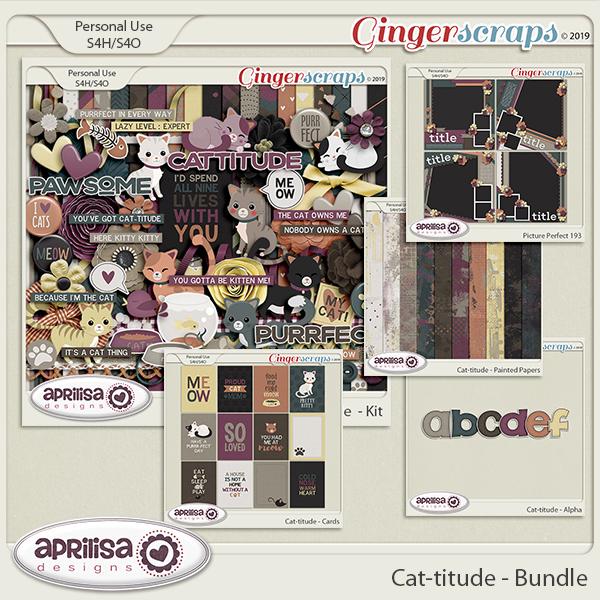 Cat-titude - Bundle by Aprilisa Designs