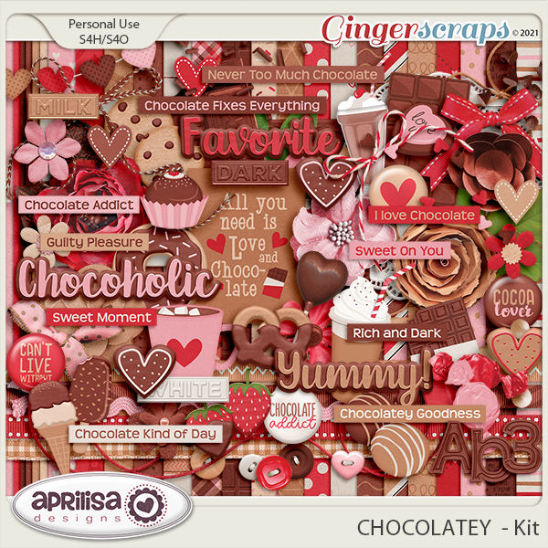 CHOCOLATEY  - Kit by Aprilisa  Designs