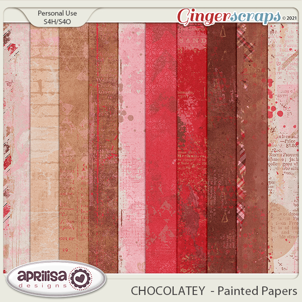 CHOCOLATEY - Painted Papers by Aprilisa Designs